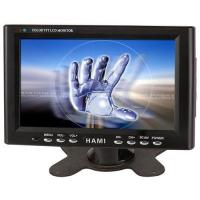 China 7-inch Touch Screen Car PC LCD Monitor with 12V DC Power, AV/VGA Input wholesale
