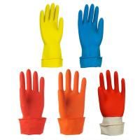 China Anti Oil Household Rubber Gloves , Rubber Work Gloves For Cleaning on sale