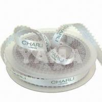China Printed Polyester Ribbon, Ideal for Packing Tape, Clothes Label and Garment Label Tape on sale