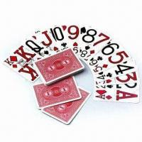 China PVC Playing Cards, Customized Colors are Accepted, Measures 56 x 87cm wholesale