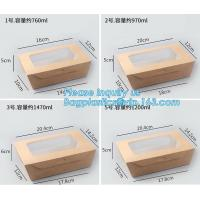 China Custom Wholesale Recyclable Packaging Food Kraft Paper Lunch Corrugated Box,premium food box paper folding lunch box bro wholesale