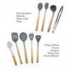 China Non Fading Spatula Kitchen Tools , Non - Stick Silicone Spatula Spoon Set wholesale