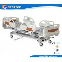 China ABS , Metal Embedded Operator Electric Hospital Bed With Wheels and 5 Function wholesale