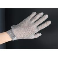 Buy cheap Cut Resistant Safety Metal Gloves , Protective Chain Link Glove With Metal Hook Strap from wholesalers