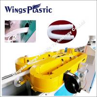 China Plastic Expansible Flexible Hose Making Machine, PP Shrinking Pipe Extrusion Line on sale