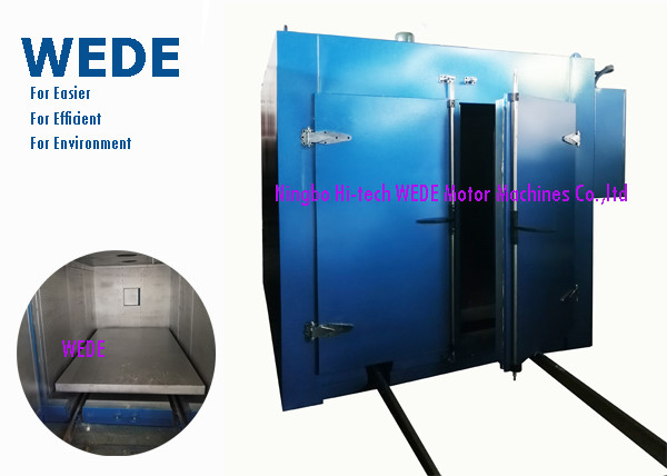 Quality Double Doors Electric Powder Coating Oven , Trolley Style Resin Coating Machine for sale