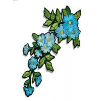 China Iron On Flower Embroidered Applique Patches For Vintage Clothing Decoration on sale