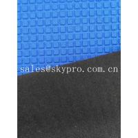 China Super Stretch Square Pattern Blue Neoprene Rubber Sheet Coated Nylon Fabric Roll wholesale