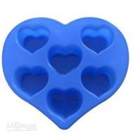China Silicon Kitchen Ware, Heart Shaped Silicone Mould For Cake / Chocolate / Candle / Soap wholesale