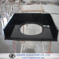 China Shanxi Black High Polished Granite Sink Countertops for Bathroom wholesale