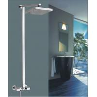 """China 8"""" Brass square Wall Mounted Shower Mixer Taps Rainshower Chrome FOR kitchen wholesale"""