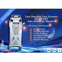 China Two Handles Two Screen 2000W Permanent Painless Hair Removal And Skin Rejuvenation SHR IPL Machine wholesale