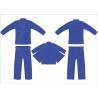China Heavy Royal Blue Hemp Bjj Gi Youth Jiu Jitsu Gi Pant Twill Tape With 4Row Threads wholesale