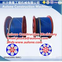China 6XK36WS-IWRC PVC coated steel wire rope,mining wire rope on sale