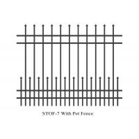China 4 rails narrow spacing stright top crimped top crimped 1800mm x 2400mm anti wild beast dog and wolf security steel fence wholesale