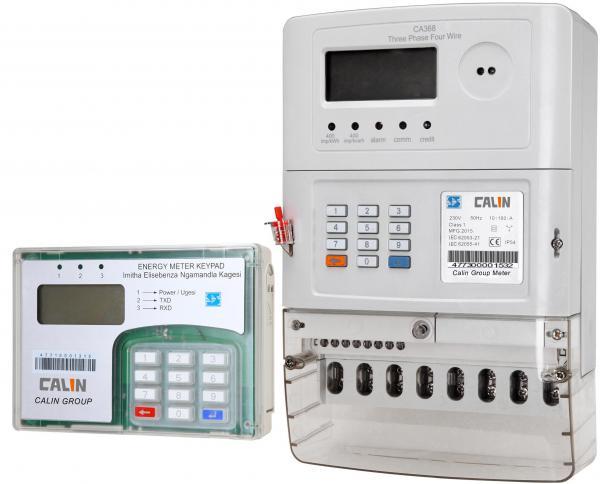 Industrial Energy Meters : Three phase prepaid energy meter images