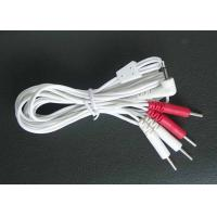 China Resuable Tens Electrodes Wire/ Tens Unit Cable With Red And Whire Four Pin Connection, Tens Lead Wires on sale