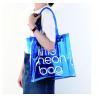 Buy cheap Clear PVC Clear Tote Bag , Logo Printing Custom Blue PVC Travel Bag from wholesalers