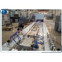 China Double Screw Plastic Profile Extrusion Line For PVC Door Frame / Cladding Pallets Profile wholesale