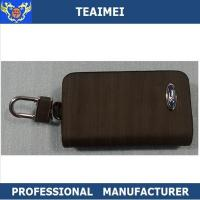 China Russety / Yellow Genuine Leather Key Holder For Ford VW / Changcheng Logo wholesale