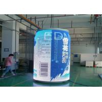 China Staduim Stage / Railway Stations Cylinder Curved LED Display with 7.8mm Pixel Pitch on sale