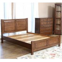 China Handmade Queen Size Wood Bed Frame , Natural Solid Wood King Size Bed Frame on sale