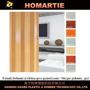 China Waterproof Interior Folding Doors PVC 8mm Thickness With Rigid Hinge wholesale