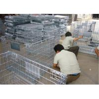 China Stackable Detachable wire mesh cages , metal storage cage container wholesale