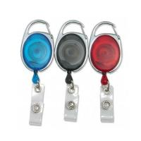 China Transparent Retractable Reel Badge Holder With Vinyl Strap Safety Promotional Retractor on sale