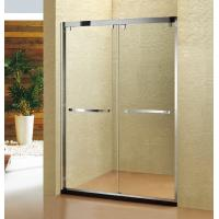 China Stainless Steel 304 Shower Screen Double Movable Sliding Shower Door 8mm wholesale