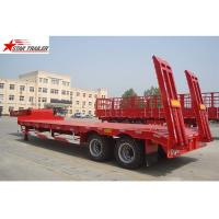 China 2 Axles 40T Low Bed Oilfield Pipe Hauling Trailer 30-60T Strong Trailer Frame wholesale