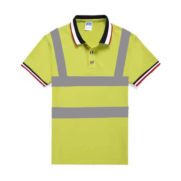 Quality Reflective Safety Hi Vis Polo Shirt OEM breathable quick dry short sleeve work wear reflective tape printed for sale