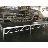 Buy cheap 1 - 1.4m Indoor / Outdoor Assemble Aluminum Stage Platform 6082-T6 Material For Events from wholesalers