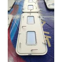 China Marine Singe Leaf Aluminum Weathertight Door With Stainless Steel Accessories wholesale