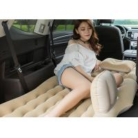 China One Piece Inflatable Car Bed PVC / Flocking Material 135 * 85 * 45CM wholesale