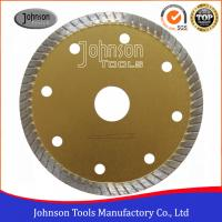 China Tile Cutting Tools 105mm Sintered Turbo Saw Blade for Ceramic / Tiles Hot Press wholesale