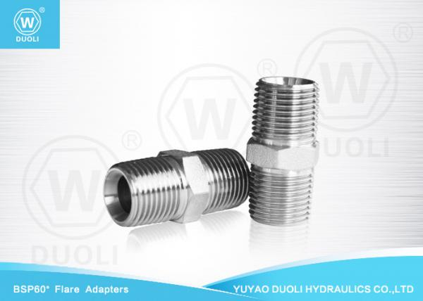 Quality British Standard Male Thread BSPT Pipe Fittings , Metric Hydraulic Hose Fittings for sale