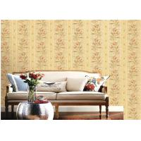 China American Country Style Deep Embossed Wallpaper Durable 1.06*15.6m Roll Size wholesale