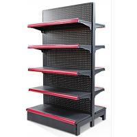 China 5 Layers Q235 Steel Black Display Shelf With End Unit For Retail Stores wholesale