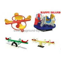 China Kids Plastic Seesaw , Outdoor Seesaw Merry Go Round For Amusement Park wholesale