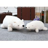 China Stuffed Animal Plush Toys 70cm Size 0.8kg Pure White Teddy Bear Soft Toy wholesale