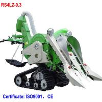 China Mini walking rice combine harvester paddy harvester for rice and wheat on sale