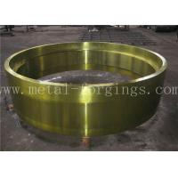 China C50 AISI1050 Carbon Steel Forged Ring Hot Rolled Cylinder Forged Disc / Pipe wholesale