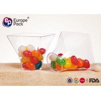 China Disposable Dessert Glasses Square And Round Shape 2.5Oz Plastic Cup 75Ml Container on sale