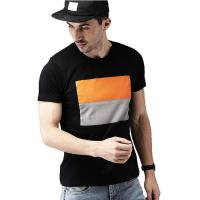 China Urban Stylish Mens T Shirts 100% Cotton Short Sleeves Fabric Weight 120 Grams on sale