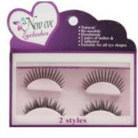 China Synthetic Criss Cross False Eyelashes Natural Permanent 2 Pairs , GS Approved wholesale