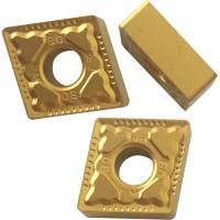 China CNMG Yellow And Black Coated CNC Turning Inserts For Machnical Parts Semi Finish Process wholesale