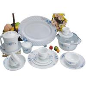 China 58 PCS-heat resistant opal glassware dinner set wholesale
