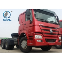 China Red Prime Mover Truck HOWO 6 x 4 340HP Tractor 10 Wheels LHD/RHD wholesale