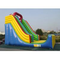 China Commercial Inflatable Outdoor Toys Durable PVC Tarpaulin For Bouncer Sliding wholesale